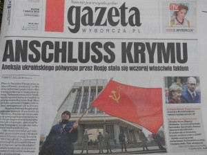 Titelseite der Gazeta Wyborcza.  Foto: Politt