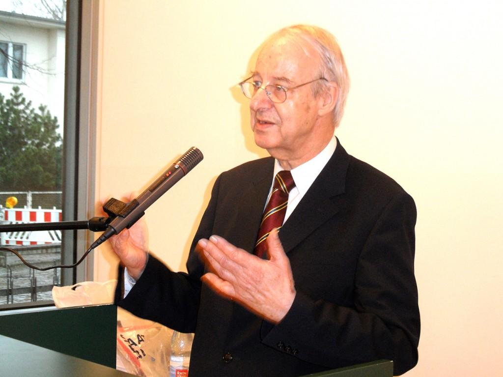 Prof. Dr. Christoph Koch, Veranstalter der Tagung und Vorsitzender der Deutsch-Polnischen Gesellschaft der Bundesrepublik Deutschland.