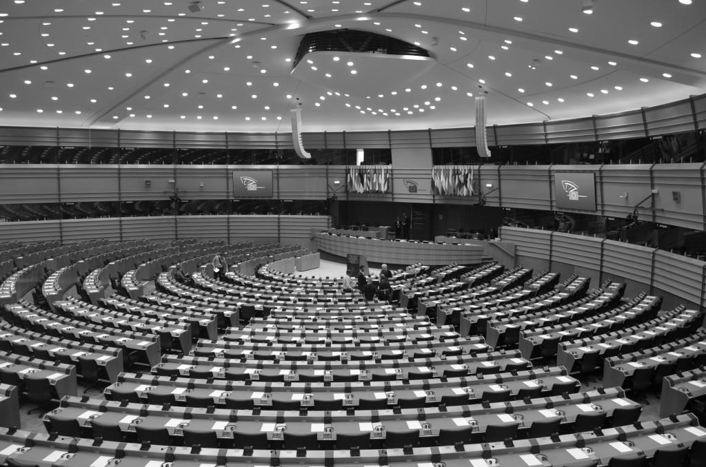 Der Plenarsaal des Europaparlaments in Brüssel. Foto: Forster