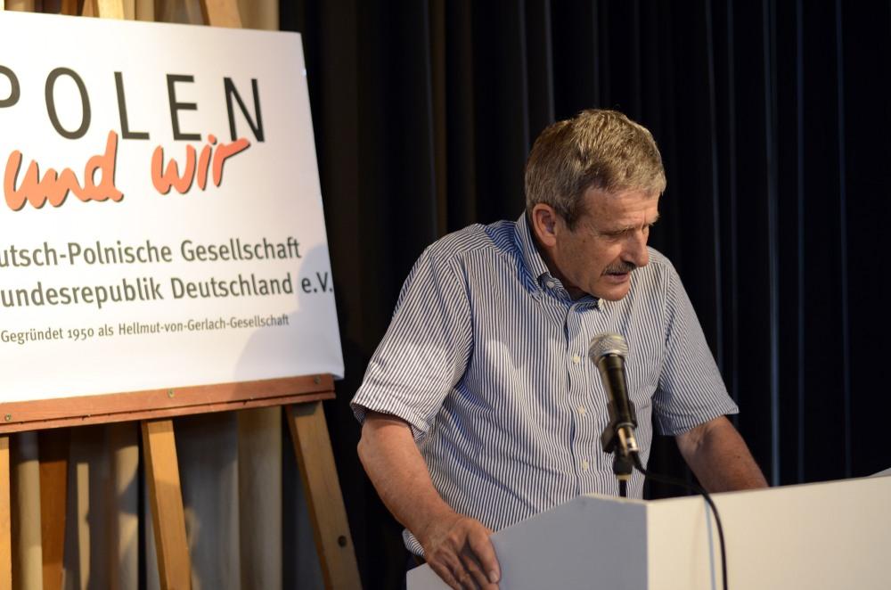 Die Grüße der Deutsch-Polnischen Gesellschaft Brandenburg überbrachte deren stellvertretender Vorsitzender, Frank Kupferschmidt .