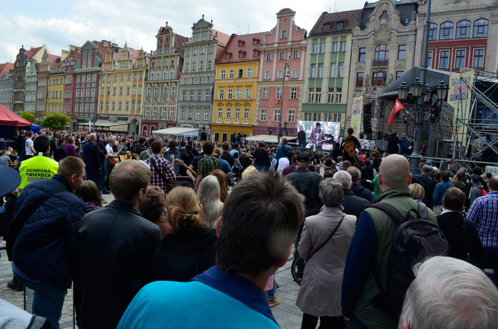 Beim Weltrekord-Versuch auf dem Rynek in Wrocław.